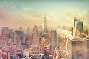 Building Exterior Art - Misty Midtown Manhattan by Matthias Haker Photography