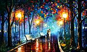 Afremov Painting Metal Prints - Misty Mood Metal Print by Leonid Afremov