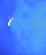 Moonscape Prints - Misty Moon Print by Liz Vernand