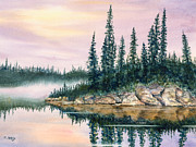 Fog Mist Paintings - Misty Morn by Mohamed Hirji