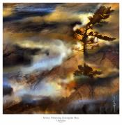 Landscapes Artwork Digital Art Posters - Misty Morning Georgian Bay Ont. Poster by Bob Salo
