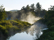 River Mist Photos - Misty Morning by Judy Olson