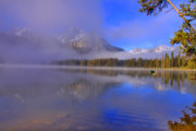 Idaho Scenery Posters - Misty Morning on a Canoe Poster by Scott Mahon