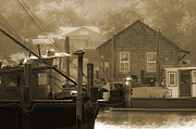 Mount Pleasant Posters - Misty Morning on Shem Creek  Poster by Melissa Wyatt