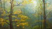 Howe Paintings - Misty Mountains by Jonathan Howe