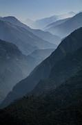 Misty Peaks Print by Timothy Johnson