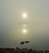 Luminescence Posters - Misty sunrise on the loch  Poster by Gary Eason