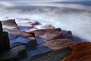 Maine Photographs Prints - Misty Tide at Monument Cove Print by Rick Berk