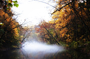 Philadelphia Digital Art Prints - Misty Wissahickon Print by Bill Cannon