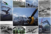 B-25 Bomber Prints - Mitchell B-25 Collage Print by Don Struke