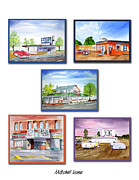Drive In Painting Framed Prints - Mitchell Icons Framed Print by Rich Stedman