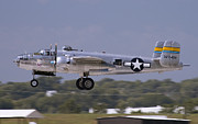 B-25 Bomber Prints - Mitchell Takeoff Print by Tim Mulina