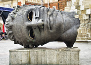 Krakow Prints - Mitoraj Head Sculpture - Krakow Print by Jon Berghoff