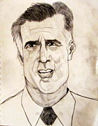 Massachusetts Drawings Posters - Mitt Romney - GOP 2012 Nominee Poster by Donald William