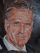 Romney Paintings - Mitt Romney by Alex Krasky