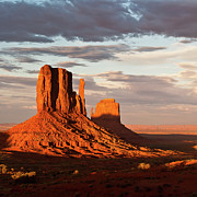 Natural Landmark Prints - Mittens Of Monument Valley Print by photo by p.Folrev