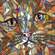 Stained Glass Art - Miw by Barbara Benson Keith