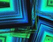 Textures Digital Art - Mix in blue and green by Mario  Perez