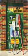 Garage Paintings - Mix Oar Match by Marguerite Chadwick-Juner
