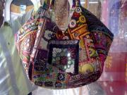India Tapestries - Textiles - Mix Patchwork Bag by Dinesh Rathi