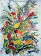 John Keaton Paintings - Mixed Bouquet by John Keaton