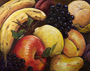 Peach Originals - Mixed Fruit by Sheila Kinsey