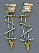 Brass Jewelry - Mixed Metal Earrings by Mirinda Kossoff