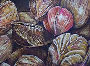 Shell Art Pastels Framed Prints - Mixed Nuts Framed Print by Outre Art Stephanie Lubin Natalie Eisen