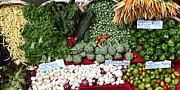 Vegetable Stand Prints - Mixed Vegetables - 5D17086 Print by Wingsdomain Art and Photography