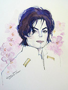 Mj Paintings - MJ in Sakura by Hitomi Osanai