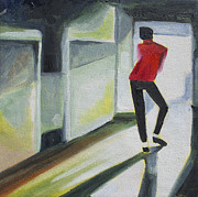 Michael Jackson Painting Originals - Mj one of five number three by Patricia Arroyo