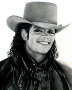 Michael Drawings Posters - MJ Ranch Style Poster by Carliss Mora