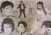 Michael Drawings Posters - MJ Tribute Poster by Lee Billingham