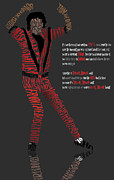 Beat It Prints - MJ_Typography Print by Mike  Haslam