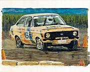 Rally Painting Posters - MKI RallyCross Poster by James Haas