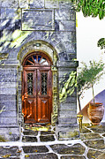 Entrance Door Framed Prints - Mkkonos 1912 Framed Print by Tom Prendergast