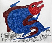 Gond Art Paintings - Mkt 84 by Manoj Kumar Tekam