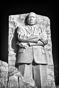 National Historic Landmark District Posters - MLK Memorial in Black and White Poster by Val Black Russian Tourchin