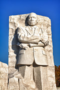 Mlk Prints - MLK Memorial in Color Print by Val Black Russian Tourchin