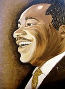 Keenya Woods Mixed Media Originals - MLK Smiles 2 by Keenya  Woods