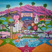 Modernism Painting Framed Prints - mmmm... Palm Springs Framed Print by Randall Weidner