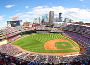 Minnesota Twins Prints - MN Twins Target Field Print by Michael Klement
