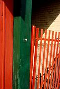 Art Ferrier Photos - Mntrl Orange Gate 2  by Art Ferrier
