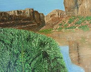 Moab Painting Prints - Moab Print by John Terry