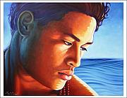 Samoan Paintings - Moana   spirit of the sea. by Troy Carney