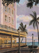 Lightposts Prints - Moana At Sunset Print by Patti Bruce - Printscapes