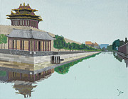 - Occupy Beijing Paintings - Moat of the Forbidden City Beijing China by Yianni Foufas