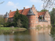 Moated Castle Prints - Moated Castle Herten III Print by Christiane Schulze