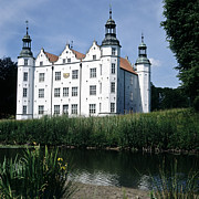 Heiko Koehrerwagner Framed Prints - Moated manor house Framed Print by Heiko Koehrer-Wagner