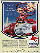 Featured Art - Mobil Advertisement, 1943 by Granger
